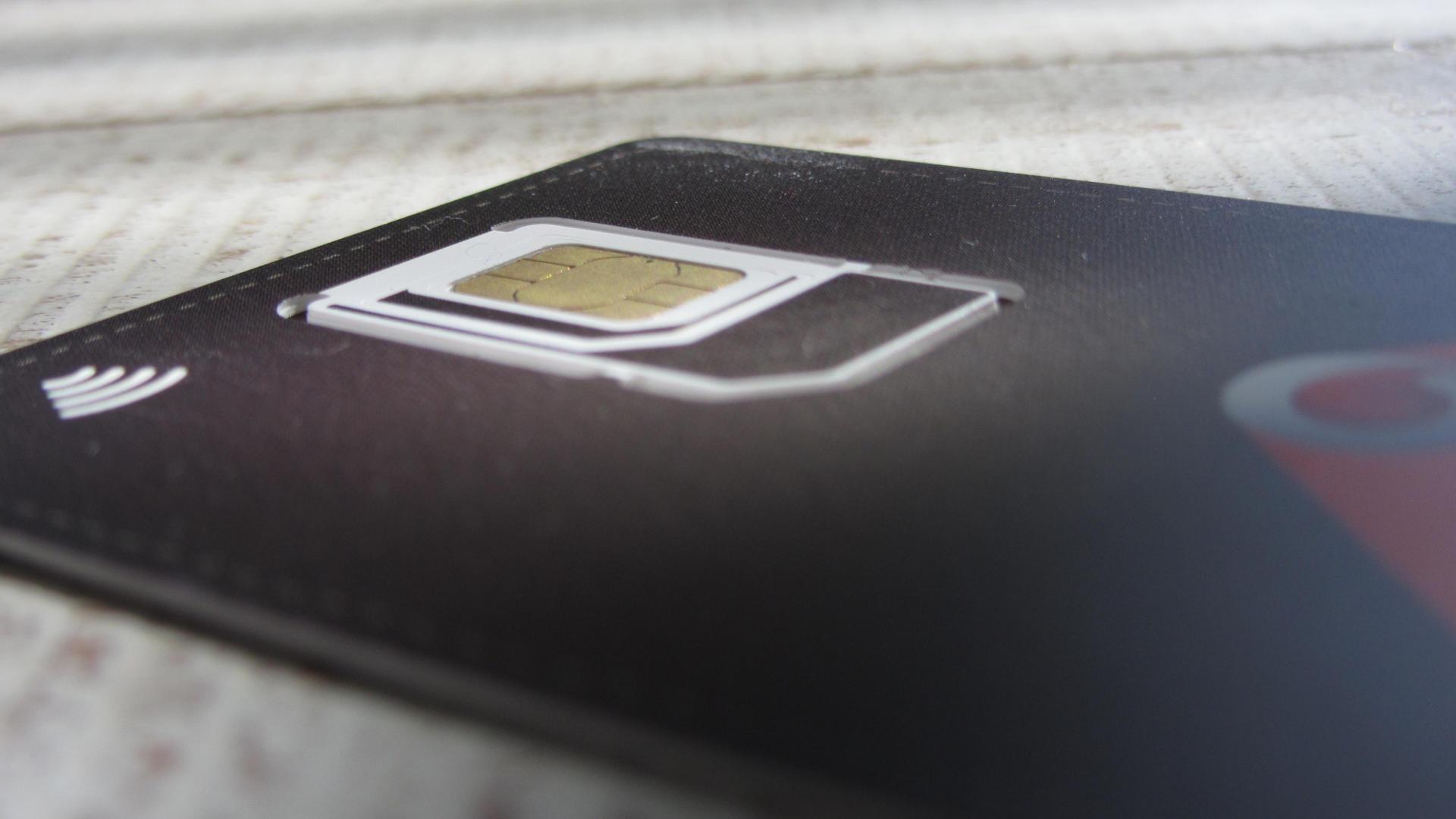 Vodafone SIM kaart met NFC