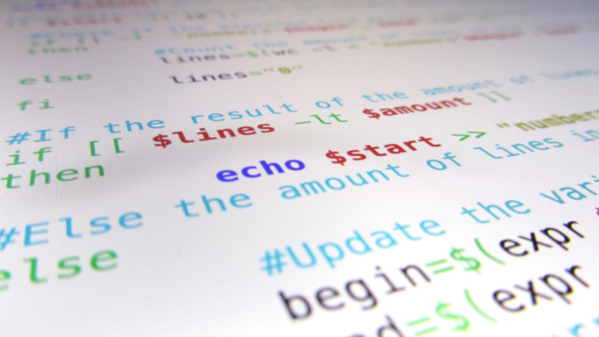 Code van shell script dat dynamisch uitkomst splitst