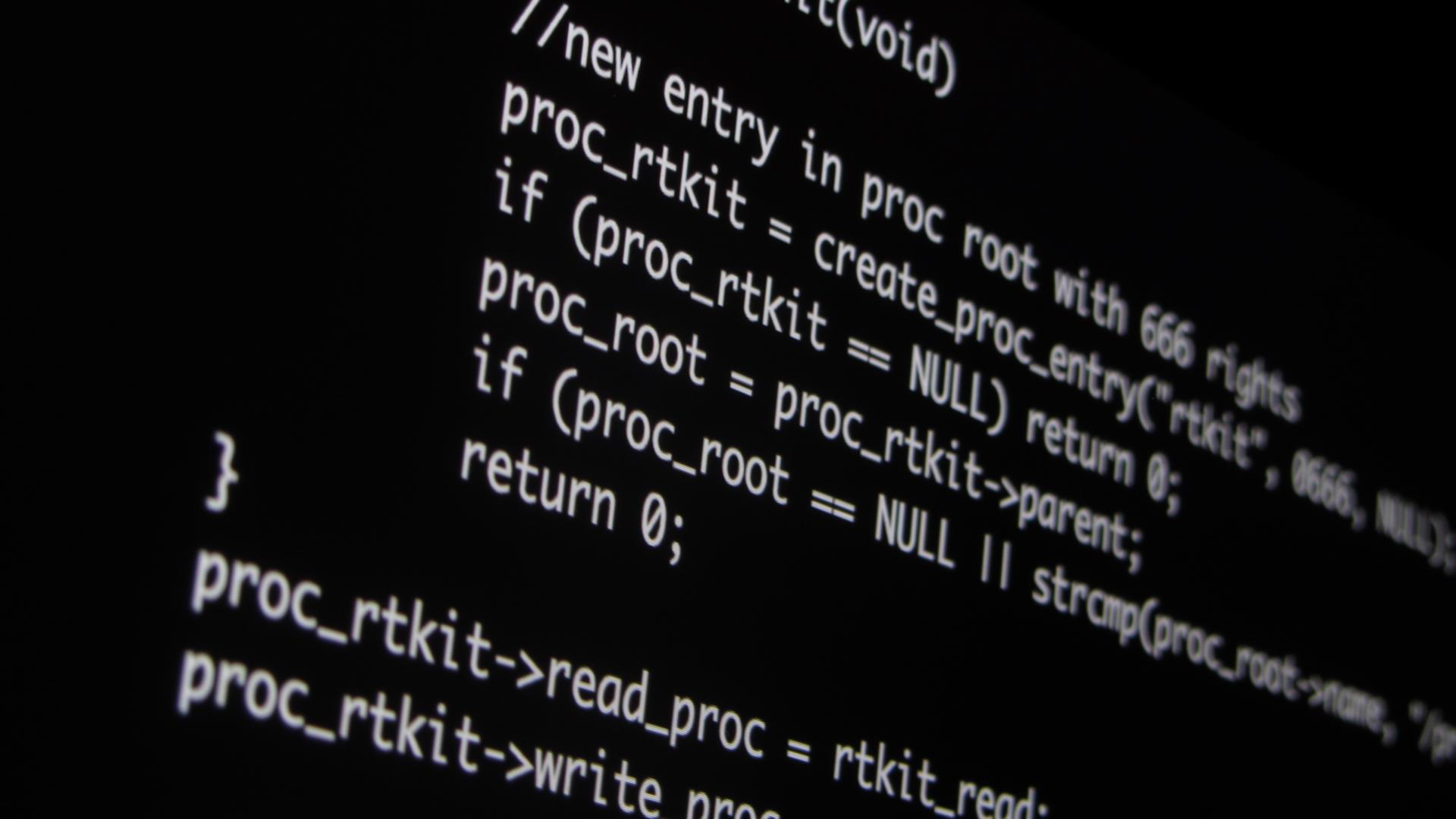 Voorbeeld code van een rootkit