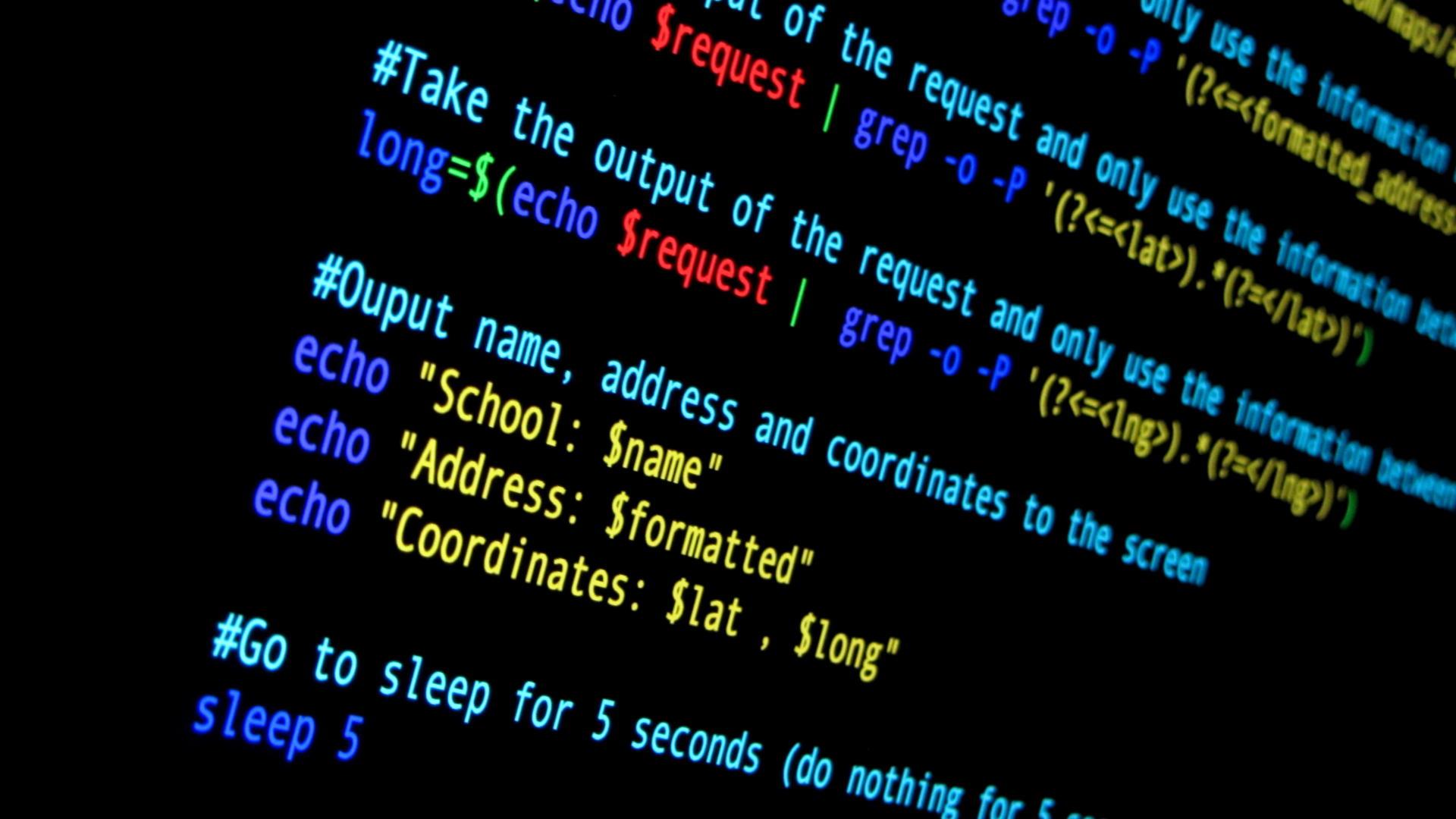 Shell script code point of interest script