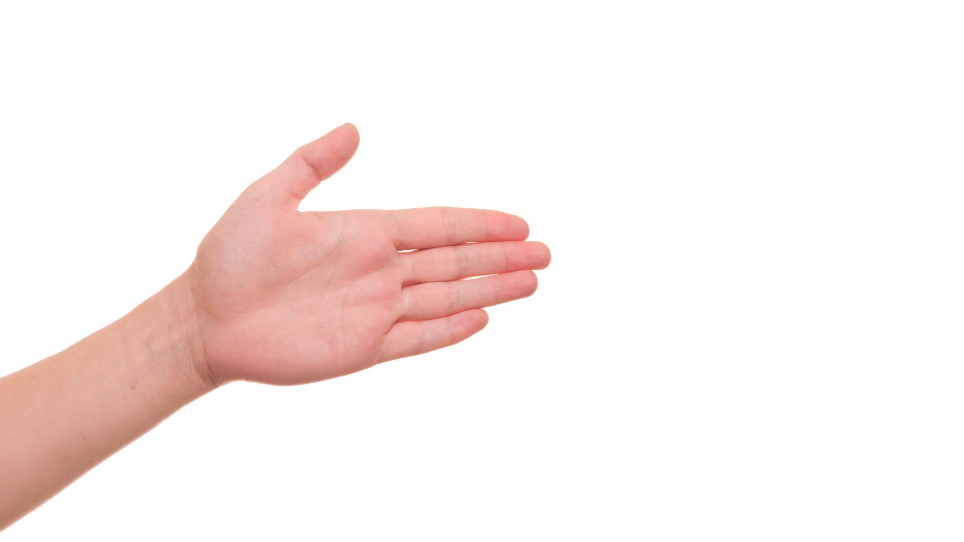 uitgestrekte hand